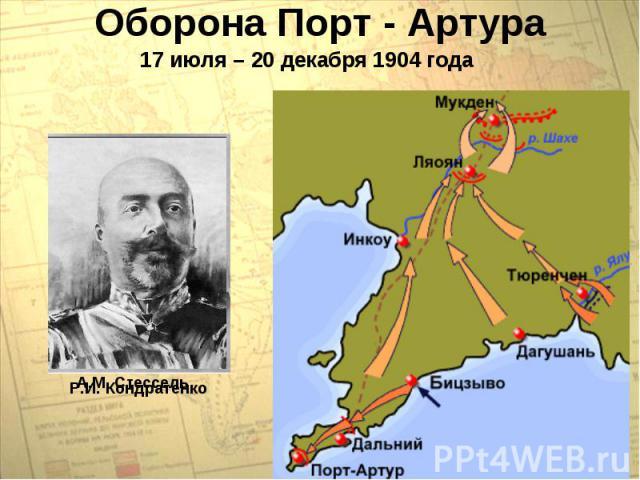 Оборона Порт - Артура17 июля – 20 декабря 1904 года