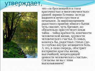 А.А.Козловский утверждает, что «за бросающейся в глаза красочностью и многозвучн