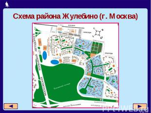 Схема района Жулебино (г. Москва)