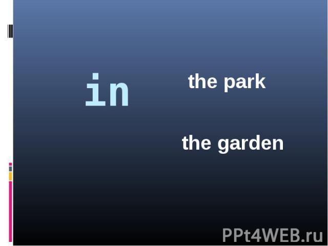 inthe parkthe garden