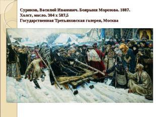 Суриков, Василий Иванович. Боярыня Морозова. 1887. Холст, масло. 304 х 587,5 Гос