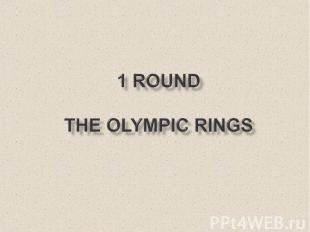 1 round The Olympic Rings