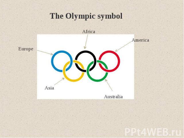 The Olympic symbol