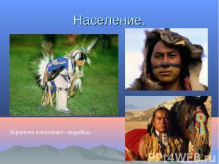 Население.Коренное население - индейцы