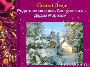 Родственная связь Снегурочки с Дедом Морозом