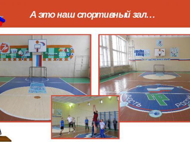 А это наш спортивный зал…