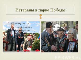 Ветераны в парке Победы