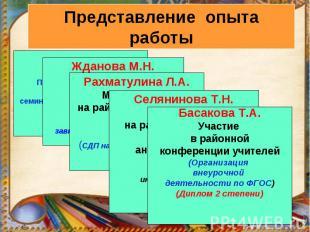 Басакова Т.А.Участие в районной конференции учителей(Организация внеурочной деят