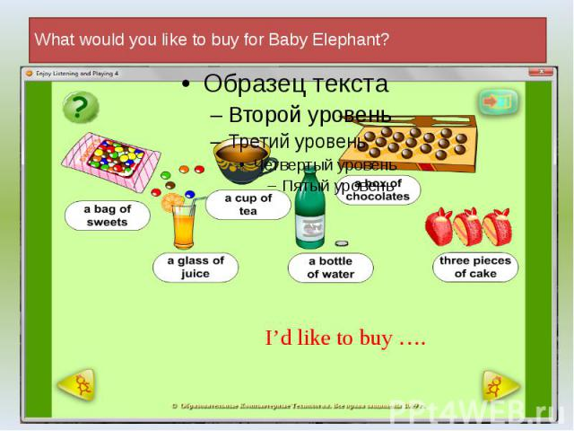 What would you like to buy for Baby Elephant?