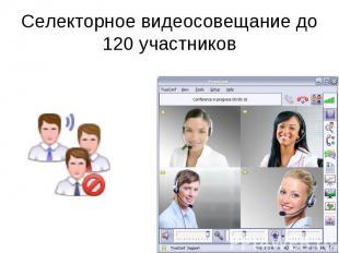 Селекторное видеосовещание до 120 участников