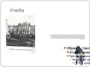 Учеба В 1874 г. будущий писатель, получив стипендию, переводится в Петровскую зе