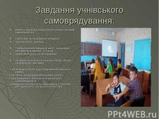 участь у розробці плану роботи школи на новий навчальний рік; участь у розробці