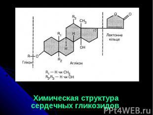 Химическая структура сердечных гликозидов Химическая структура сердечных гликози