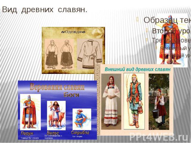 Вид древних славян.