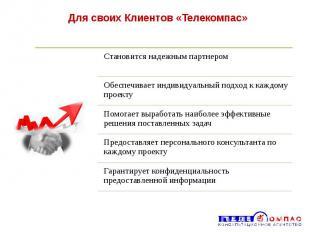 Для своих Клиентов «Телекомпас»