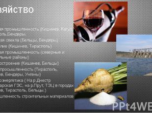 Хозяйство Пищевая промышленность (Кишинев, Кагул, Тирасполь,Бендеры. Сахарная св