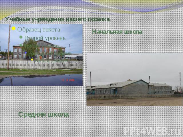Учебные учреждения нашего поселка.