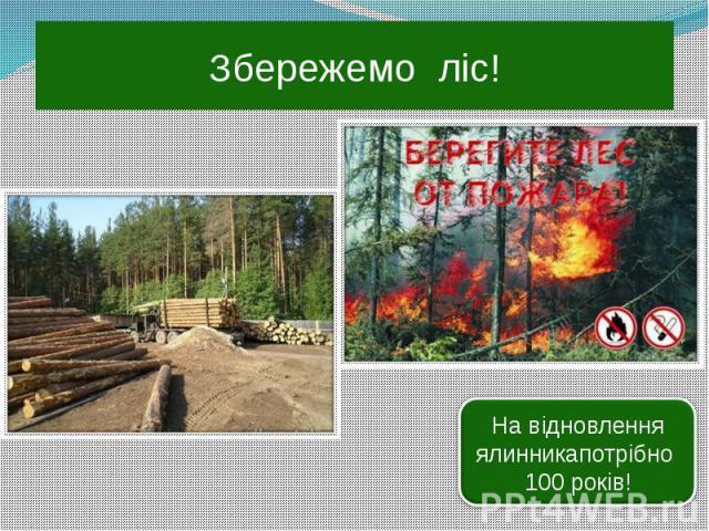 Збережемо ліс!