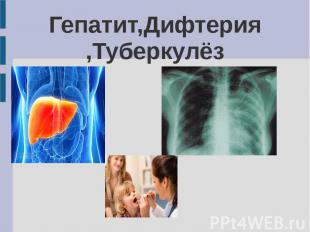 Гепатит,Дифтерия ,Туберкулёз