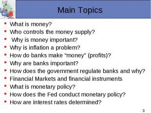 What is money? What is money? Who controls the money supply? Why is money import