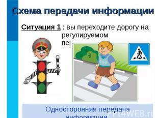 Ситуация 1 : вы переходите дорогу на регулируемом перекрёстке. Ситуация 1 : вы п