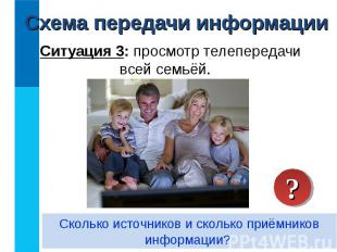 Ситуация 3: просмотр телепередачи всей семьёй. Ситуация 3: просмотр телепередачи