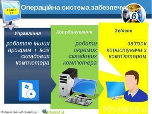 Операційна система забезпечує:
