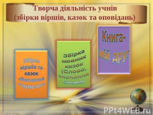 Творча діяльність учнів(збірки віршів, казок та оповідань)