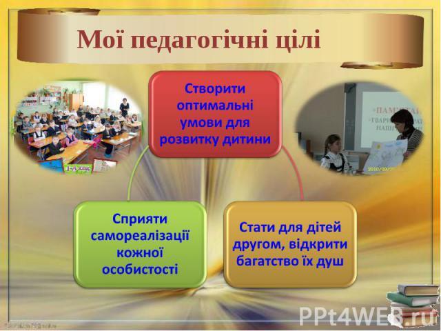Мої педагогічні цілі
