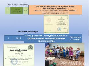 ОГАОУ ДПО Иркутский институт повышения квалификации, программа «Использование ин