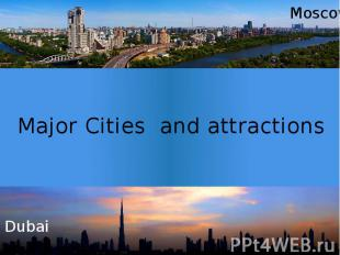 Major Cities and attractions