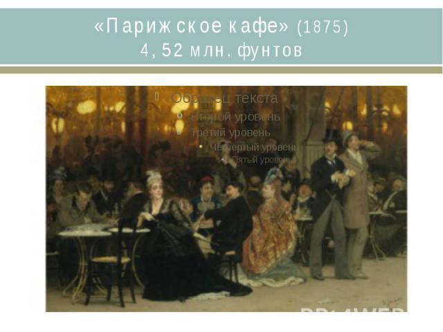 «Парижское кафе» (1875)4, 52 млн. фунтов