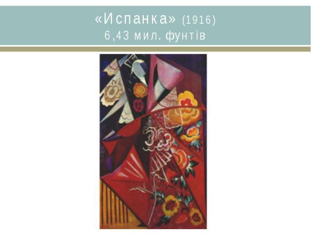 «Испанка» (1916)6,43 мил. фунтів