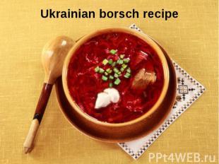 Ukrainian borsch recipe