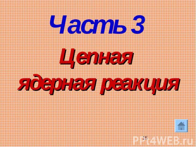 Цепная ядерная реакцияЧасть 3