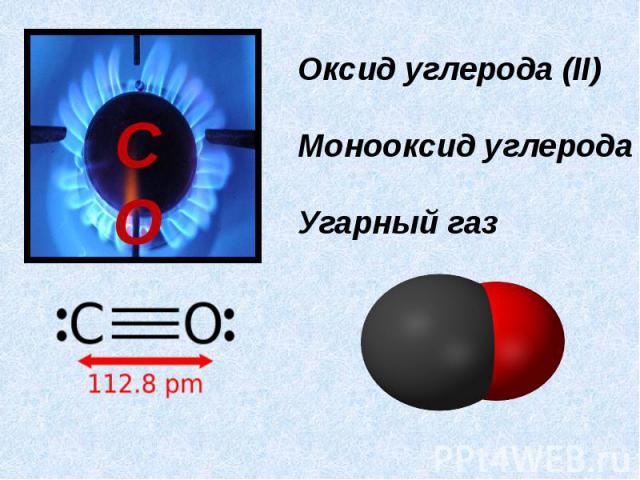 Оксид углерода (II)Монооксид углеродаУгарный газ