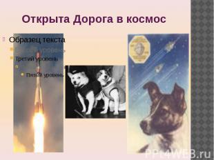Открыта Дорога в космос