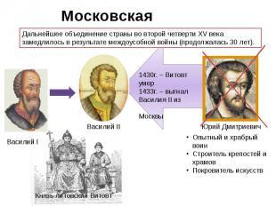 Московская усобица. Дальнейшее объединение страны во второй четверти XV века зам