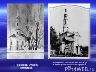 Покровский мужской монастырь Благовещенский собор Покровского монастыря. У стен