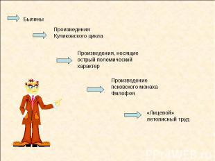 Былины Произведения Куликовского цикла Произведения, носящие острый полемический