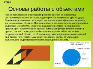 Основы работы с объектами Любое изображение в векторном формате состоит из множе