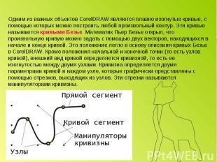 Одним из важных объектов CorelDRAW являются плавно изогнутые кривые, с помощью к