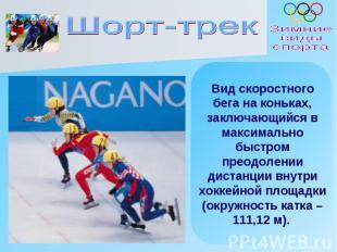 Шорт-трек Вид скоростного бега на коньках, заключающийся в максимально быстром п