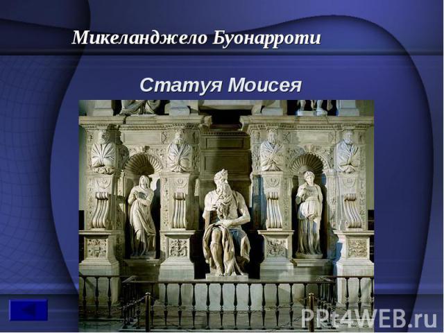 Микеланджело Буонарроти Статуя Моисея