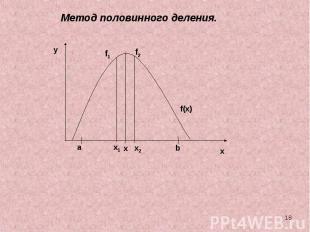 Метод половинного деления.
