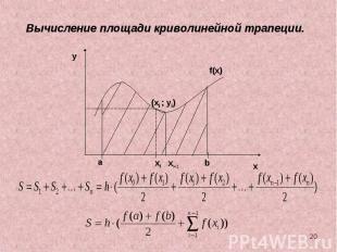 Вычисление площади криволинейной трапеции.