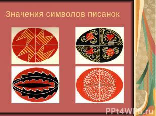 Значения символов писанок