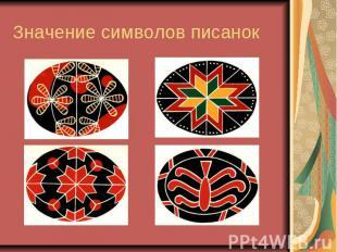 Значение символов писанок
