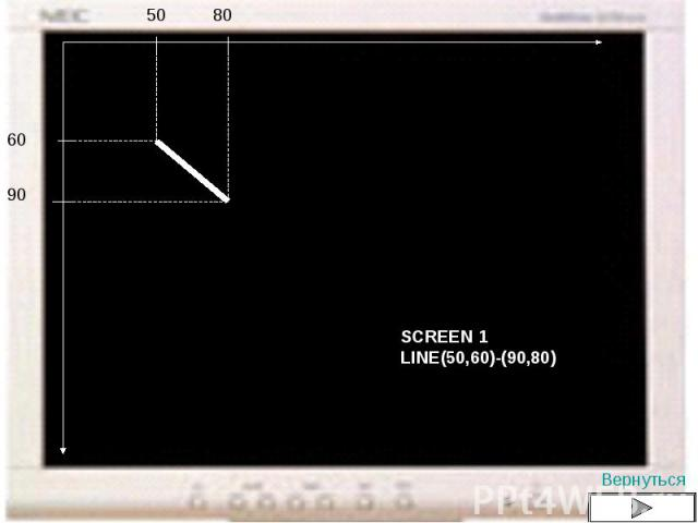 SCREEN 1LINE(50,60)-(90,80)