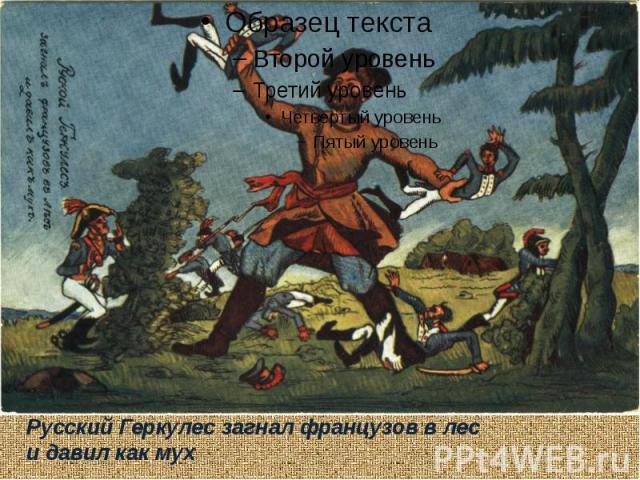 Русский Геркулес загнал французов в лес и давил как мух